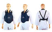 Защита корпуса (жилет) для единоборств детская Zelart  (EVA, нейлон, р-р XS-XL, черный), фото 1