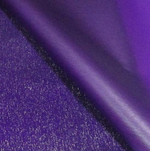 Плівка флористична з мерехтінням, фіолетова