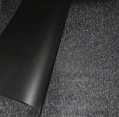 Плівка флористична з мерехтінням, чорна