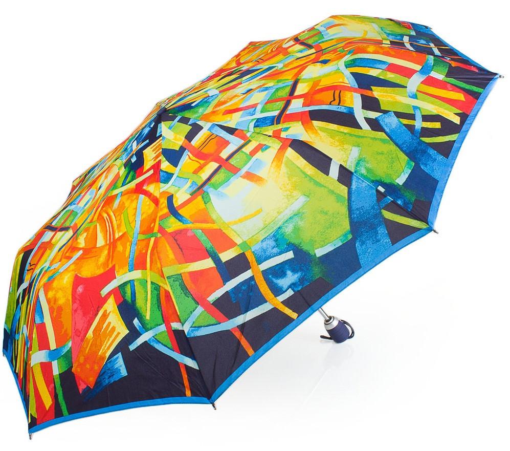 Привлекательный женский зонт-автомат AIRTON Z3955-2001, цвет разноцветный. Антиветер!