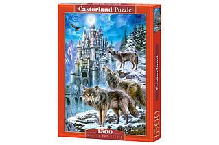 Пазли Вовки і замок Castorland 1500 елементів