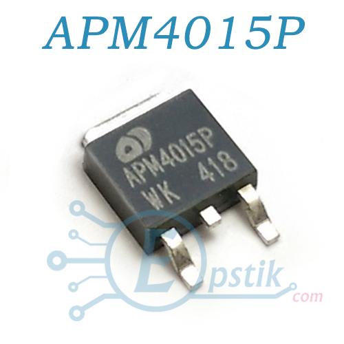 APM4015P, MOSFET транзистор, P-канал 45А, TO252