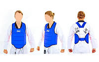 Защита корпуса (жилет) для каратэ детская Everlast  (PU, р-р XXS-L, синий), фото 1