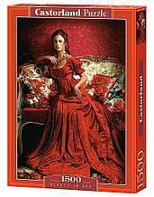 Пазли Красуня в червоному Castorland 1500 елементів