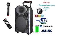 Портативная колонка EX-1208 с микрофоном 130W (FM/USB/Bluetooth)