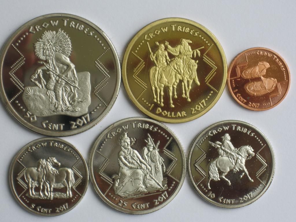 США індіанці Кроу 6 монет 2017