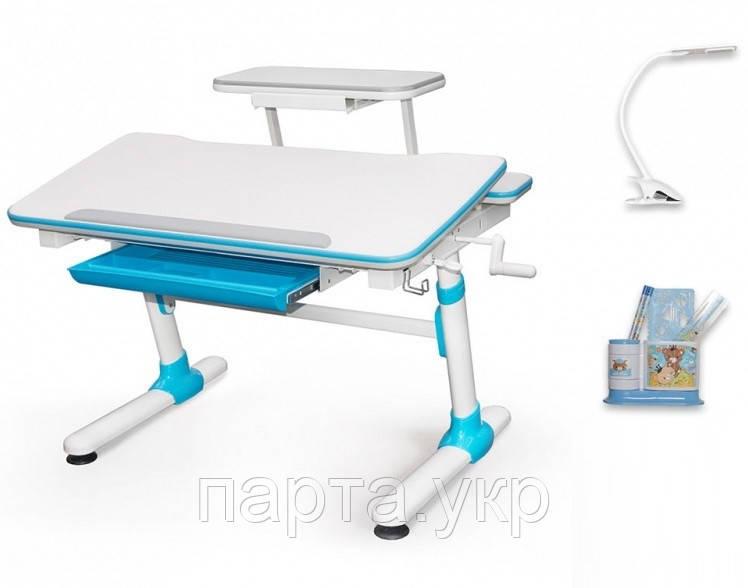 Письменный стол трансформер Evo 501 Mealux, + полка и лампа, три цвета
