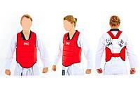 Защита корпуса (жилет) для каратэ детская Everlast  (PU, р-р XXS-L, красный), фото 1