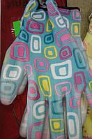 Перчатка трикотажная садовая голубая, нитриловое покрытие WE2123 (Werk)