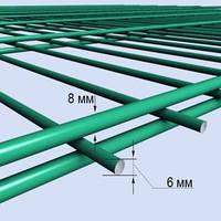 """2Д заборы и ограждения """"Кольчуга"""" секционные сварные в полимерном покрытии из металла в Днепре 2,5х1,63м."""