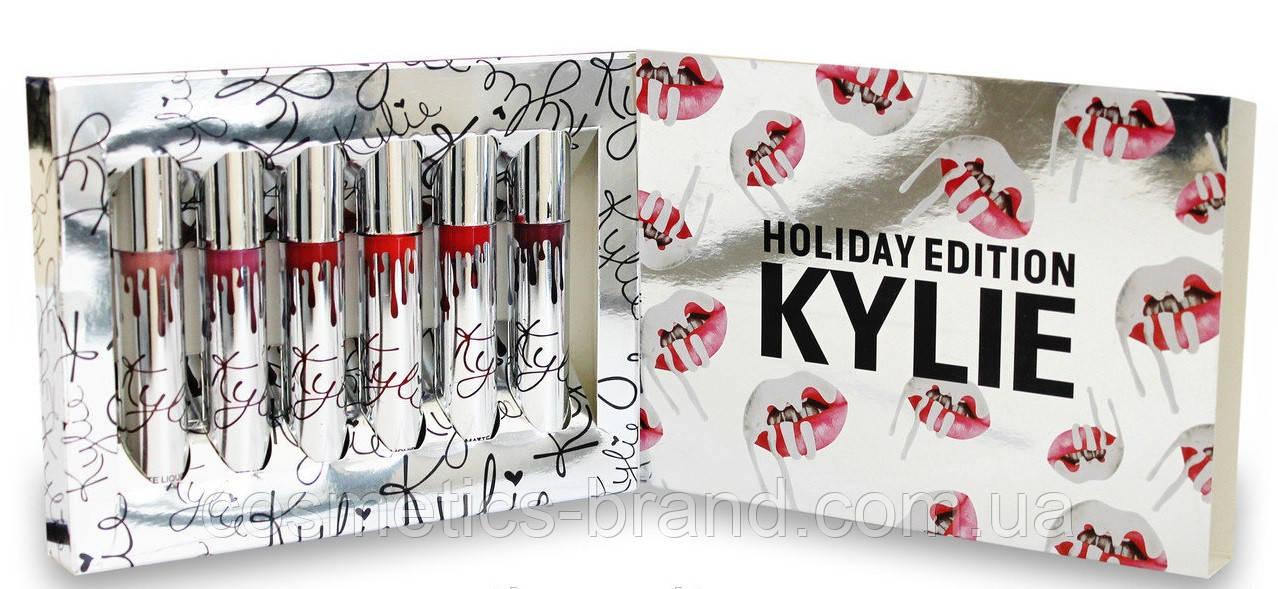 Жидкая матовая помада Kylie Holiday Edition: 6 оттенков (реплика)