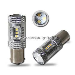 Светодиодная автолампа 1156(P21W)-S25-BA15s, 15W (560Lm)+Линза Original Samsung LED chip ( SMD2323)