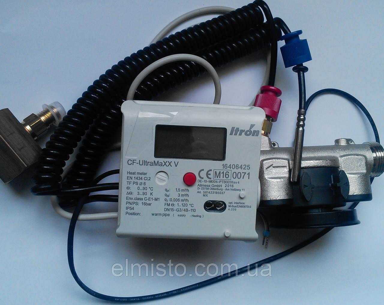 Счетчик тепла квартирный ультразвуковой компактный ITRON CF-UltraMaxx V  Q=1,5   м3/час, Dn15