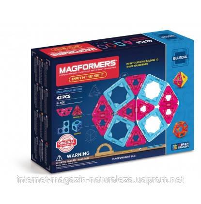 Конструктор магнитный ТМ Magformers Математический набор 42 элемента