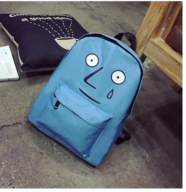 Уценка! Рюкзак школьный подростковый повседневный Смайл сине-голубой