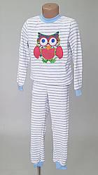 Детская теплая пижама «Совенок» на рост 122