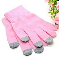 Розовые перчатки для сенсорных экранов