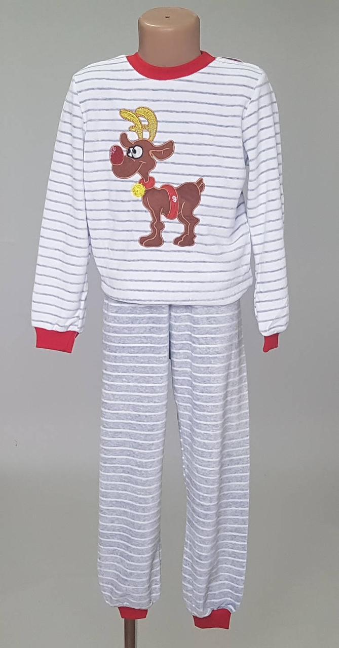 Детская теплая пижама в полоску с олененком - Интернет-магазин  «KatrinStyle» в Хмельницком 183453558cfd3