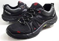Кроссовки  кожаные  мужские  Slalom черные ! , пр-во ПОЛЬША