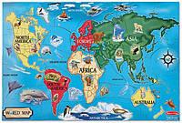 Напольный пазл Melissa&Doug Карта мира (MD10446)