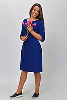 Романтическое женское синее платье с пуговицами по спинке размер 34, 36, 38, 40, 42.