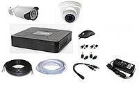 Система  видеонаблюдения гибридная для дома и улицы