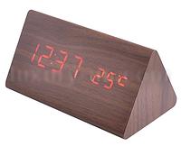 Часы сетевые 861-1 красные LO