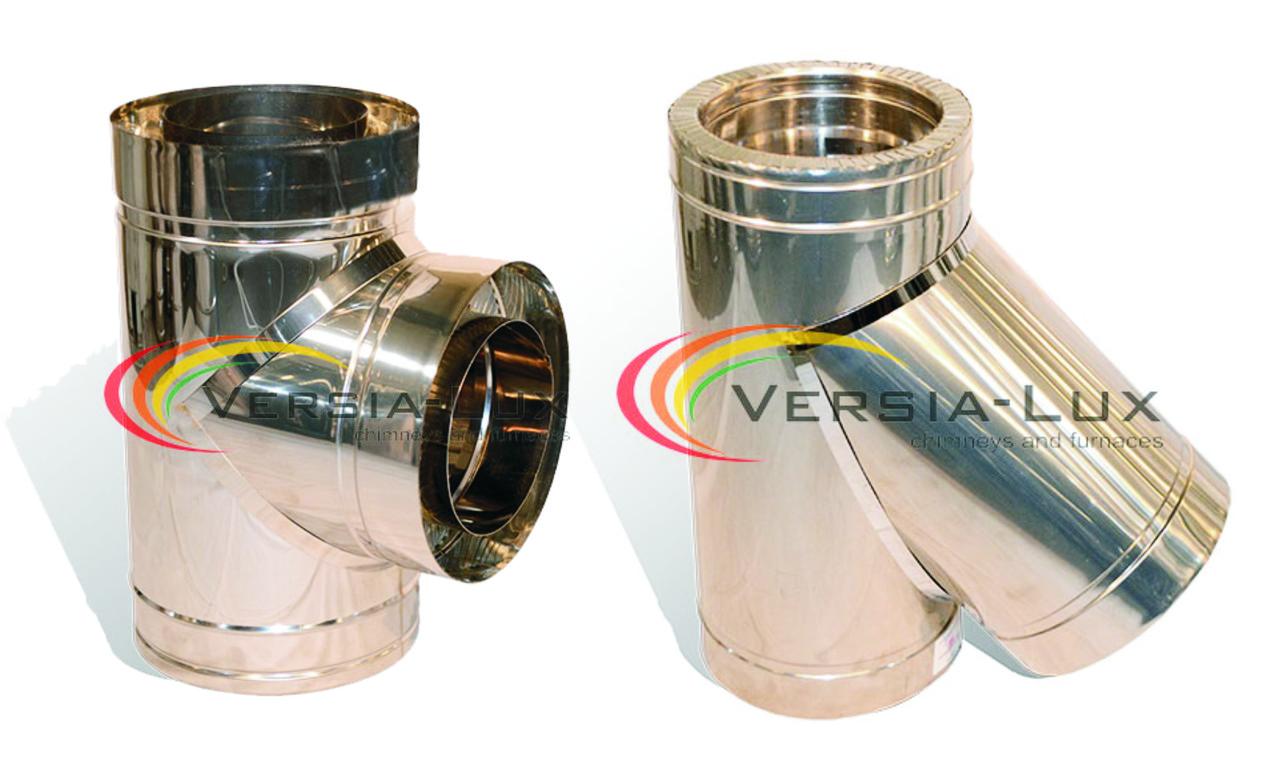 Тройник из нержавеющей стали Versia-Lux с теплоизоляцией