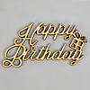 """Слова из дерева """"Happy Birthday"""" - 9,5 х 4,97 см"""