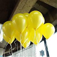 """Воздушные шары 100 шт латексные, цвет желтый 8""""(21 см)Италия"""