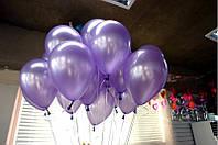"""Воздушные шары 100 шт латексные, цвет фиолетовый 8""""(21 см)Италия"""