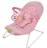 Шезлонг детский Bambi 30602 розовый, фото 1