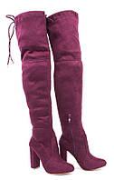 Женские ботфорты,сапоги чулки из замша