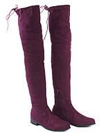 Высокие женские сапоги, ботфорты на низком ходу размеры 36,37,39