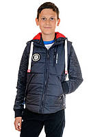 Модная осенняя куртка- жилет на мальчика Urban Размеры 36- 42