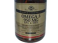Solgar, Омега-3 ЭПК и ДНА 950 мг, 100 капсул Тройная сила,   Omega-3,EPA & DHA,