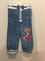 Теплые велюровые штаны для мальчика, фото 1