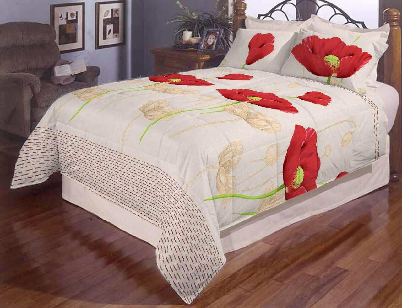 Постільна білизна двоспальне Маки Gold