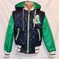 Демисезонная детская куртка- жилетка на мальчика Кеды 28- 34 размеры