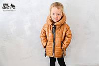 Демисезонная куртка на девочку (золото)