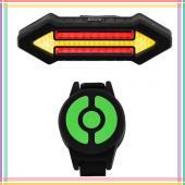 """Фонарь велосипедный аккумуляторный X4 """"STOP"""" с указанием поворотов (красный + желтый) micro USB"""
