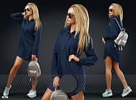 Туника –рубашка с длинным рукавом и рубашечным воротником P7364