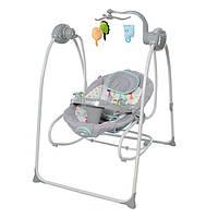 Детская электрокачель качалка c мобилем и пультом Carello Molle CRL-10301 Grey