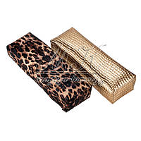 Подлокотник для маникюра ( тигровый принт, кожа крокодила) 30 см