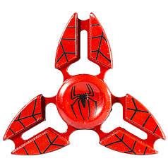 Спиннер металлический Fidget Spinner Spider Красный для развития мелкой моторики