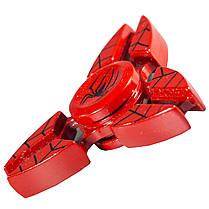Спиннер металлический Fidget Spinner Spider Красный для развития мелкой моторики, фото 3