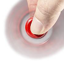 Спиннер металлический Fidget Spinner Spider Красный для развития мелкой моторики, фото 2