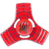 Спиннер металлический Fidget Spinner Паук Красный развивающий мелкую моторику рук