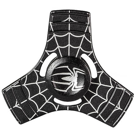 Спиннер металлический Fidget Spinner Паук Черный развивающий мелкую моторику рук, фото 2