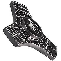 Спиннер металлический Fidget Spinner Паук Черный развивающий мелкую моторику рук, фото 3